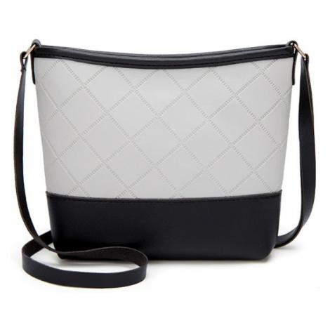 Formální černo-bílá kabelka crossbody