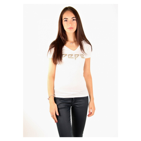 Pepe Jeans dámské smetanové tričko Serena