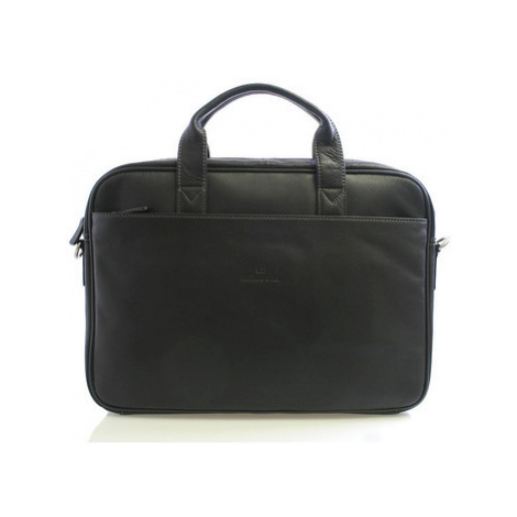 Hexagona Černá kožená taška 62544 Černá