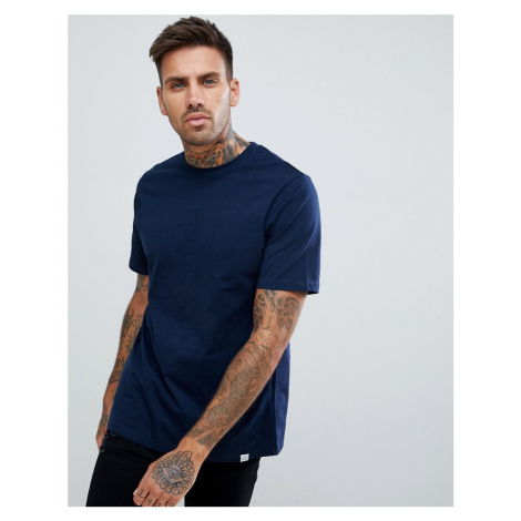 Pull&Bear Join Life basic t-shirt in navy Pull & Bear