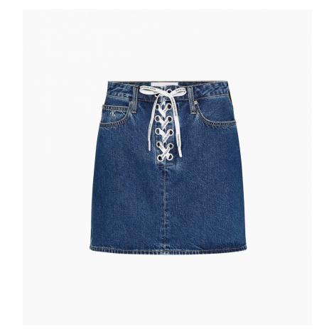 Calvin Klein Calvin Klein dámská modrá džínová sukně HIGH RISE MINI SKIRT