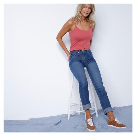 Blancheporte Rovné džíny s push-up efektem, certifikát Öko-Tex, barva stone modrá