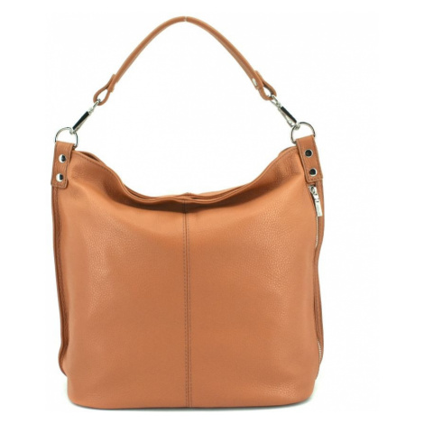 Dámská kožená kabelka Arteddy - světle hnědá