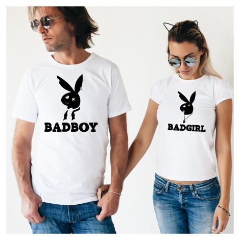 Párová trička Bad Boy, Bad Girl - pozor, jen pro zlobivé kluky a holky BezvaTriko