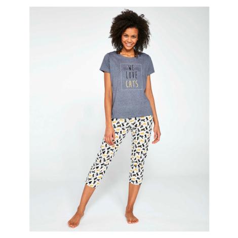 Dámské pyžamo Cornette LOVE CATS 497/196