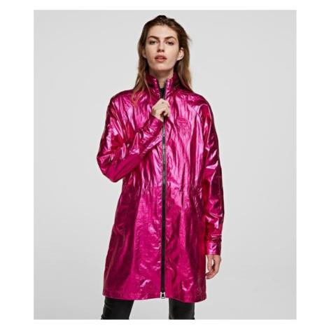Bunda Karl Lagerfeld Ikonik Metallic Parka - Růžová