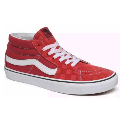 Boty Vans SK8-Mid deboss checkerboard pompeian red/true white