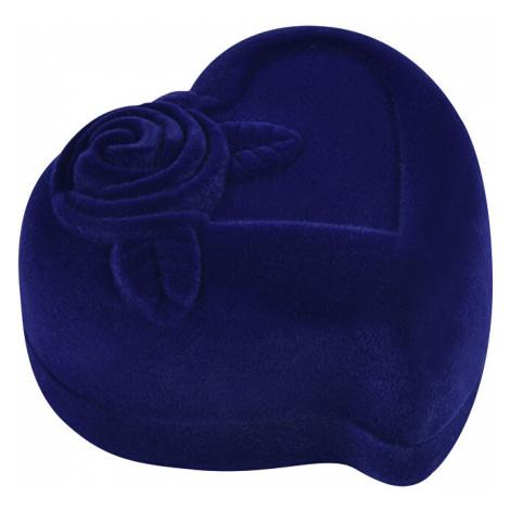 JK Box Modrá dárková krabička na náušnice nebo prsten F-79/A14 JKbox
