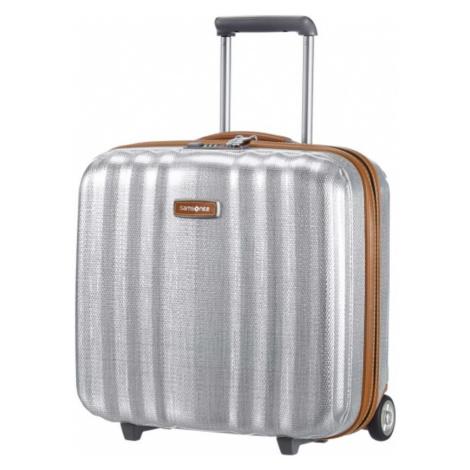 Samsonite Kabinový cestovní kufr Lite-Cube DLX Rolling Tote 31,5 l - stříbrná