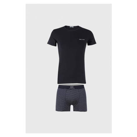 Modrý SET trička a boxerek Alaric Enrico Coveri