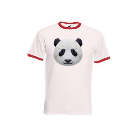Pánské tričko s kontrastními lemy Panda