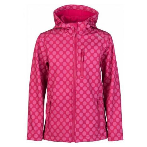 Lewro DONA růžová - Dívčí softshellová bunda