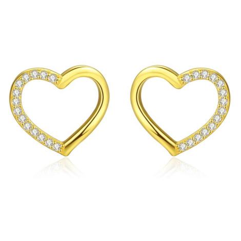 Linda's Jewelry Stříbrné náušnice Srdce Elegance Ag 925/1000 IN277