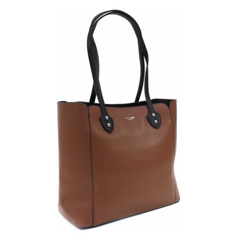 Čokoládově hnědá dámská zipová kabelka do ruky i přes rameno Berdine Sofia trade