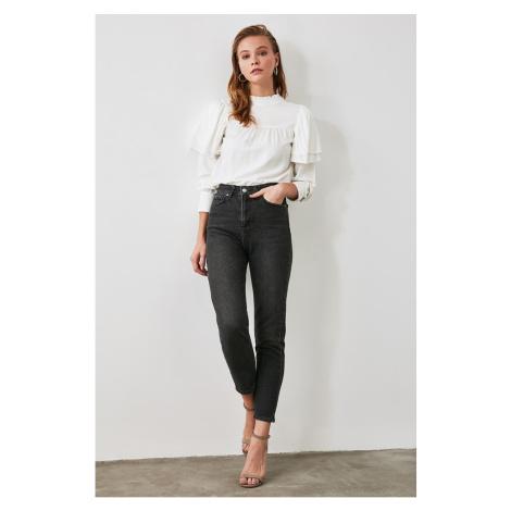 Trendyol Anthracite High Waist Mom Jeans