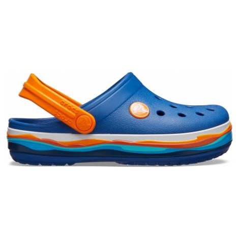 Crocs Crocband Wavy Band Clog K Blue Jean C5