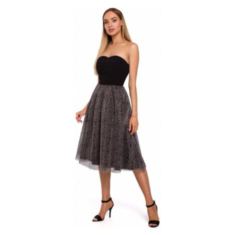 Společenské šaty bez ramínek MOE M482