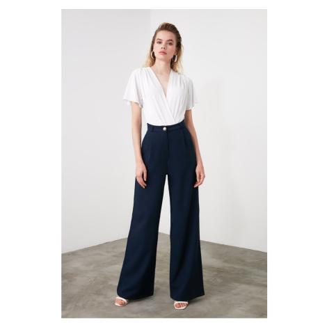 Women's pants Trendyol Navy