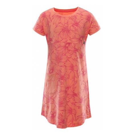 ALPINE PRO Tereso Oranžová / Červená Dětské letní šaty KSKR067328PD