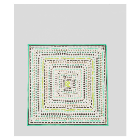 Šátek Karl Lagerfeld Karls Favourite Square Scarf