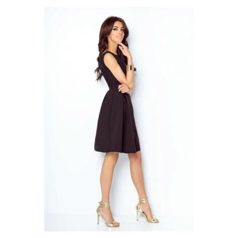 Dámské elegantní áčkové šaty v černé barvě 215 IVON