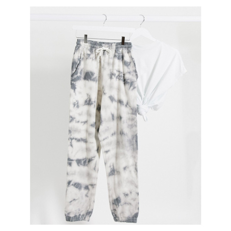 Missguided co-ord joggers in tie dye print-Multi