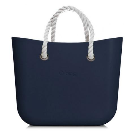 Kabelka obag mini navy s krátkým provazem bílá O bag