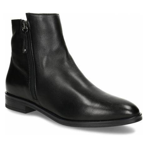 Dámská obuv z černé kůže ke kotníkům Baťa