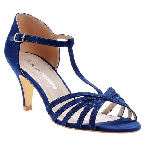 Blancheporte Páskové boty na jehlovém podpatku námořnická modrá