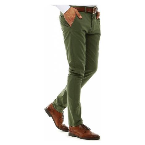 Pánské zelené kalhoty BASIC
