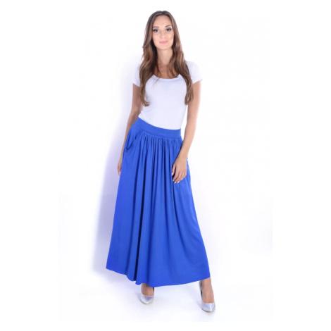 Modrá dlouhá sukně s kapsami Oxyd