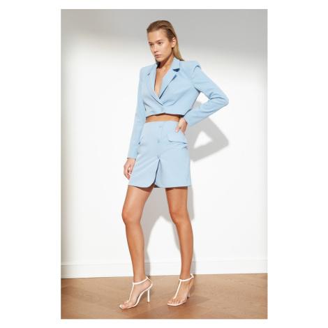 Trendyol Blue Pocket Skirt