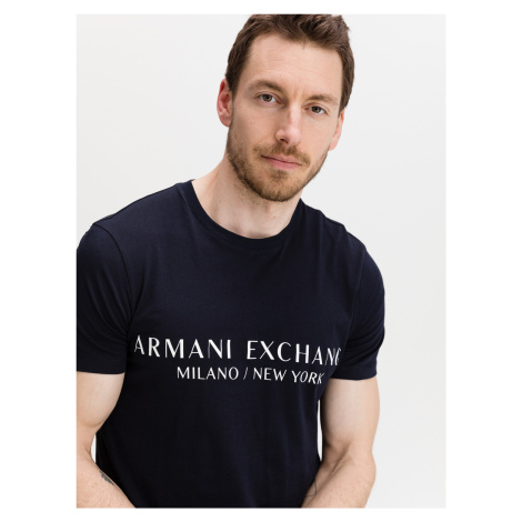 Navy Triko Armani Exchange Modrá