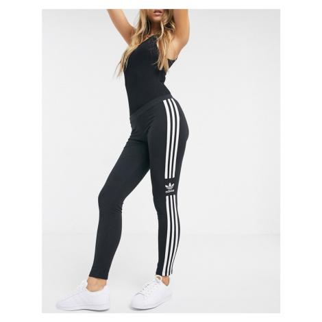 Adidas Originals adicolor locked up logo leggings in black