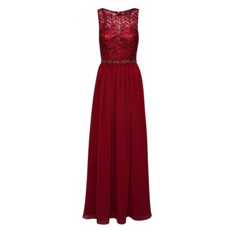 Mascara Společenské šaty 'LACE TOP' vínově červená