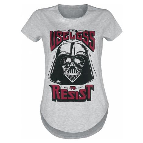 Star Wars Darth Vader - Useless To Resist dívcí tricko smíšená svetle šedá