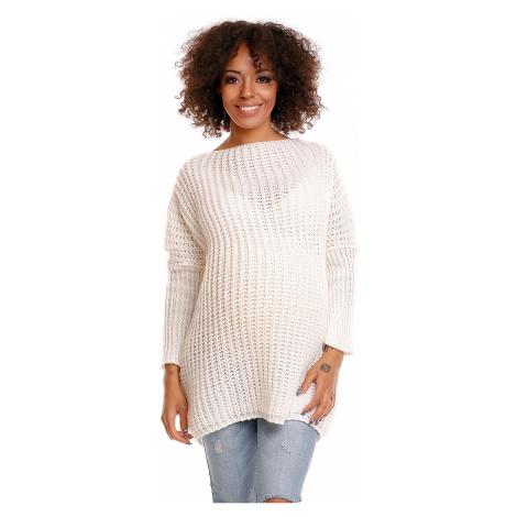 Smetanový těhotenský pulovr 30043C PeeKaBoo