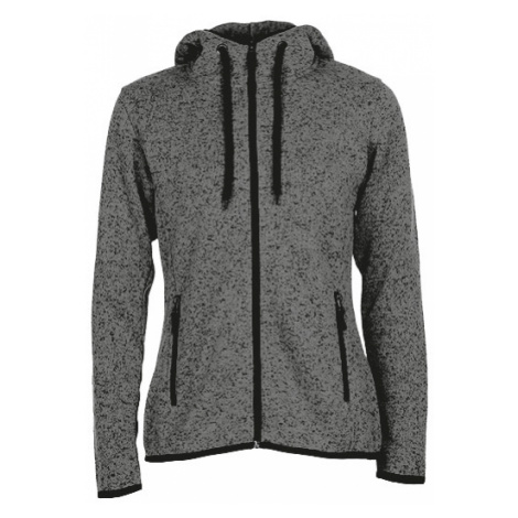 Pletená Fleece mikina dámská - Tmavě šedá