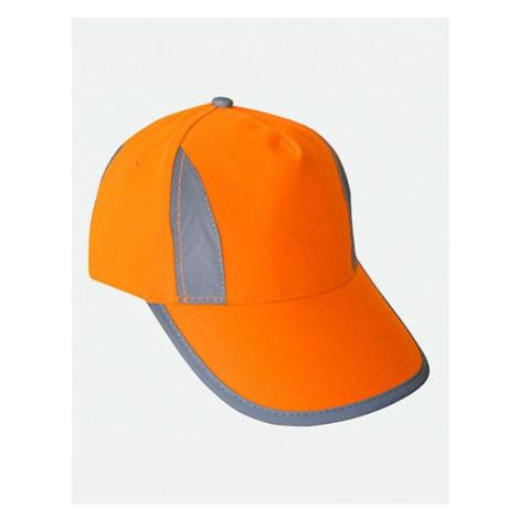 Kšiltovka Hi-Viz-, Fluo-, Reflective-Cap oranžová