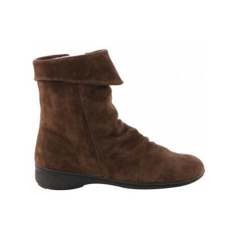 Blancheporte Kotníkové boty s teplou podšívkou kaštanová