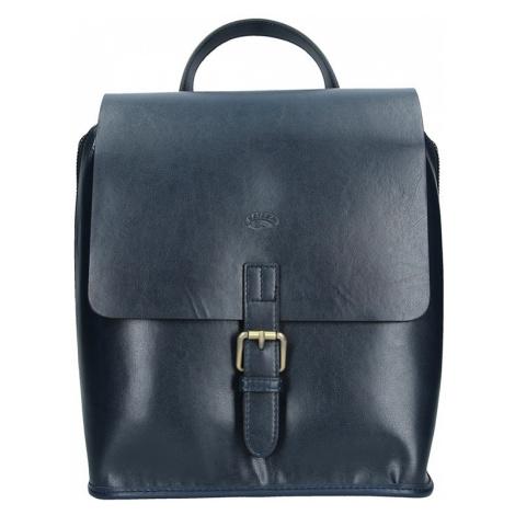 Elegantní dámský kožený batoh Katana Petra - tmavě modrá