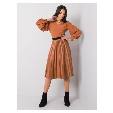 SUBLEVEL Brown pleated skirt Fashionhunters