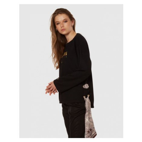 Mikina La Martina Woman Heavy Jersey Fleece - Černá