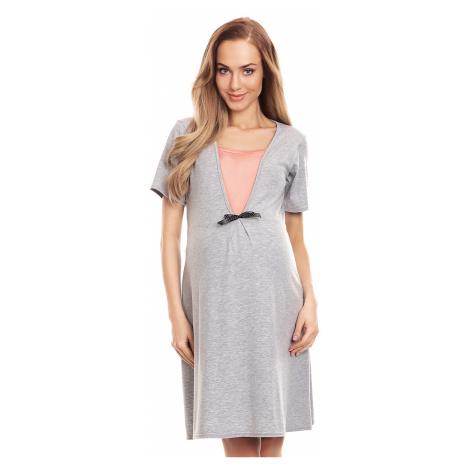 Šedá těhotenská noční košile 0132