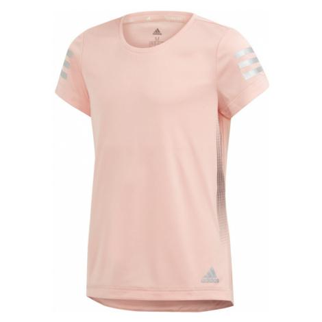 Dívčí tričko adidas Training Run světle oranžové,