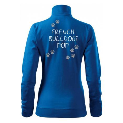 French Bulldogs mom (Francouzský buldoček) (Reflexní tlapky) - Mikina dámská Viva bez kapuce
