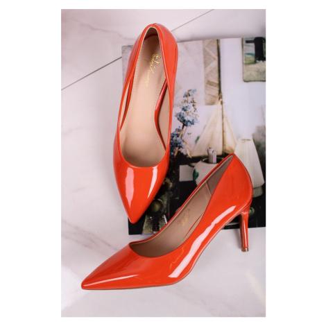Oranžové lodičky Edith Sergio Todzi