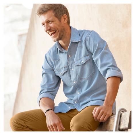 Blancheporte Džínová košile sepraná modrá