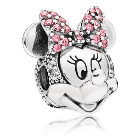 Pandora Třpytivý stříbrný klip Disney Minnie 797496CZS