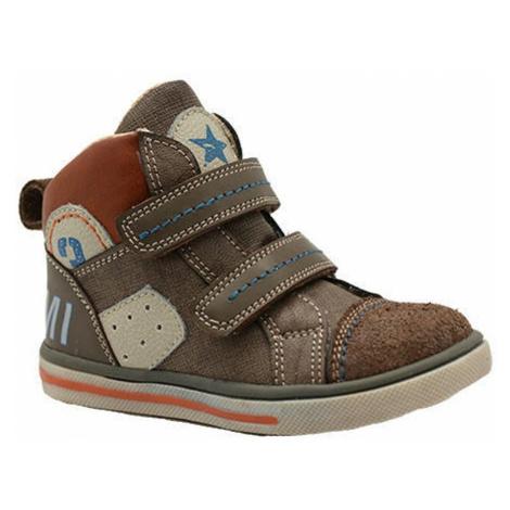 Hnědé chlapecké celoroční boty Joanne Pidilidi